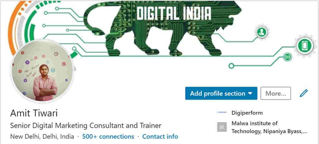 Amit Tiwari- Digital Marketing Trainer in Ghaziabad